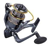 Gedourain Carrete de Pesca Diseño de Copa de Metal Completo Durable, para Pescar(MD1000)