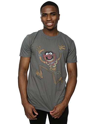 Disney Men's The Muppets Classic Animal T-Shirt X-Large Charcoal