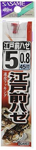 ささめ針(SASAME) GA003 江戸前ハゼ 糸付 5号