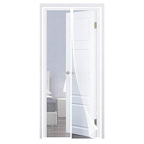 Moustiquaire Porte Fenetre Magnetique Moustiquaire Porte AimantéE Store Moustiquaire Facile à Installer pour Enfants et Animaux de Compagnie, Blanc 120x220cm(47x87inch)
