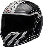 Bell Helmets Eliminator Cascos de Moto, Hombre, Negro/Blanco, S