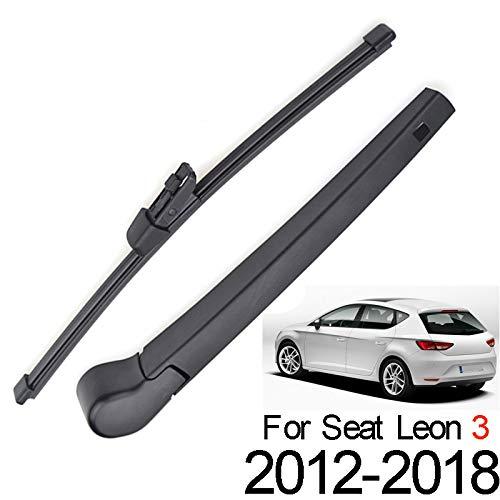 Xukey - Juego de limpiaparabrisas trasero y brazo para Seat Leon MK3 Hatchback 5F 5F1 2012-2018 (1 juego)