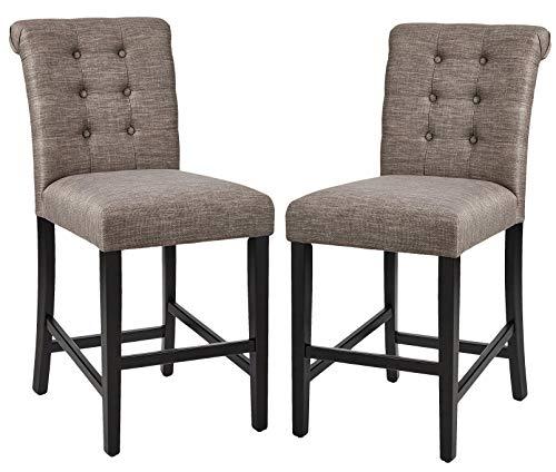 "Amazon Brand – Ravenna Home Modern Counter Stool, Set of 2, 38.25""H, Grey"