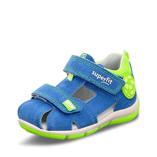 Superfit Baby Jungen Freddy Sandalen, (Blau/Gelb 81), 22 EU