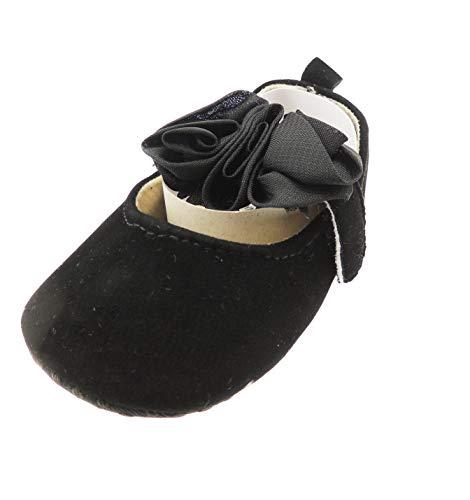 Sandales d'été pour bébé fille en mousseline avec bordure rose 12 3–6 mois Noir
