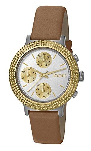 Joop! Damen-Armbanduhr Golden Leather Analog Quarz Leder JP101852002