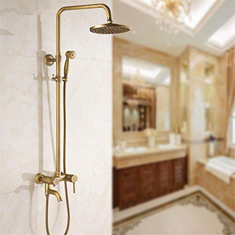 Antike Dusche, voll Kupfer Retro Bad Armatur europischen Badewanne Dusche