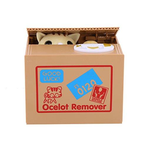Elektrische Münzbehälter Elektrische Katze Spielzeug Interessante Geschenk für Kinder (Gelbe Katze)