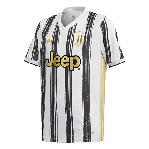 adidas Juventus Youth Home Soccer Jersey 2020/21 (Y-Large) White, Black