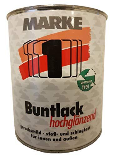 Marke 1 Buntlack hochglänzend Alkydharz-Buntlack innen&außen 375ml Farbwahl, Farbe (RAL):RAL 0096 Altweiß