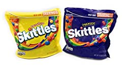 TWO BAGS: This bundle includes one bag of both the Brightside and the Darkside of the Rainbow Skittles. They are both 15.60 ounces each. BRIGHTSIDE: Flavors include KIWI BANANA, WATERMELON, PARADISE PUNCH, TANGERINE, and PINK LEMONADE. DARKSIDE: Flav...