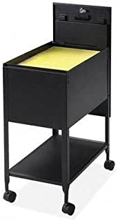 Lorell Mobile Standard File with Lock, 13-1/2 by 24-3/4 by 28-1/4-Inch, Black
