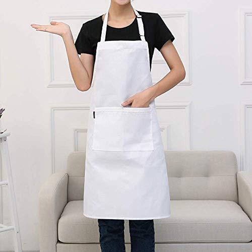 LYDCX (2 Pièces Chef Cuisine Tablier Cuisine Café Hôtel Hôtel Boutique De Thé Femmes Tablier Salopette Blanc