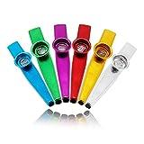 kazoo worthplanet 6 pezzi lega di alluminio metallo kazoo strumenti musicali bocca kazoo particolare per bambini e adulti premio regalo e bomboniere w090009