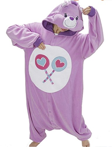 Katara- Pijamas Care Bears (4+ Modelos) Traje de Oso Carnaval Adulto, Color generosita violeta, Talla 165-175cm (1744)