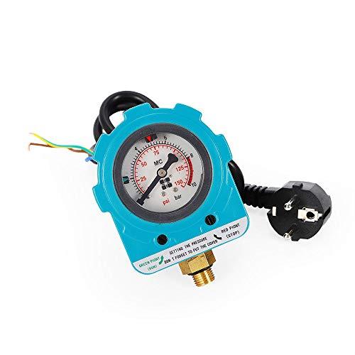 OUBAYLEW Wasser Pumpensteuerung Pumpe Druckschalter Pumpenschalter Druckregler 220V 10Bar
