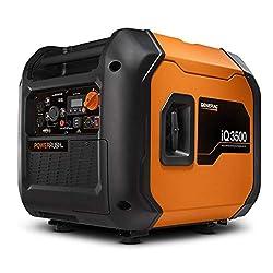 top 10 cobra e9500 generator Generac 7127 iQ3500-3 500 Watt Portable Inverter Generator Quiet than Honda, Orange / Black