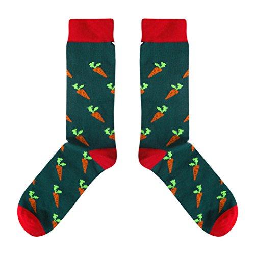 CUP OF SOX - Gemüse/Möhren/Vegan - Socken in der Tasse - Herren & Damen Geschenksocken Freizeit Socken, Grün, 41-44