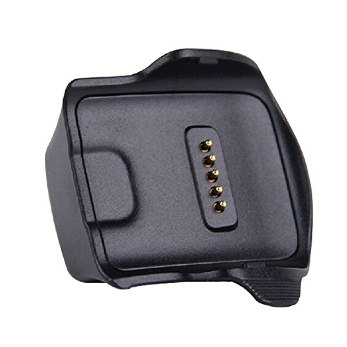 Kissmart Compatible with Gear Fit Charger, Replacement Charger Charging Cradle Dock for Samsung Gear Fit Smart Watch SM-R350 (Black)