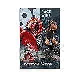 BABAQIQI Michael-Schumacher Lewis-Hamilton Poster Legend of