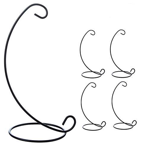 JYCRA - Portacandele in ferro da stiro, a forma di sfera di vetro, da appendere, per decorazione di casa, giardino, matrimonio, colore: nero