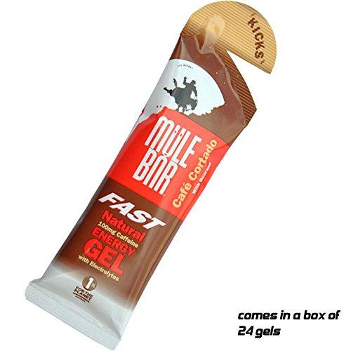 Mulebar Mule Bar Kicks Organic Energy Gel - Box of 24 Gels x 37g Cafe...