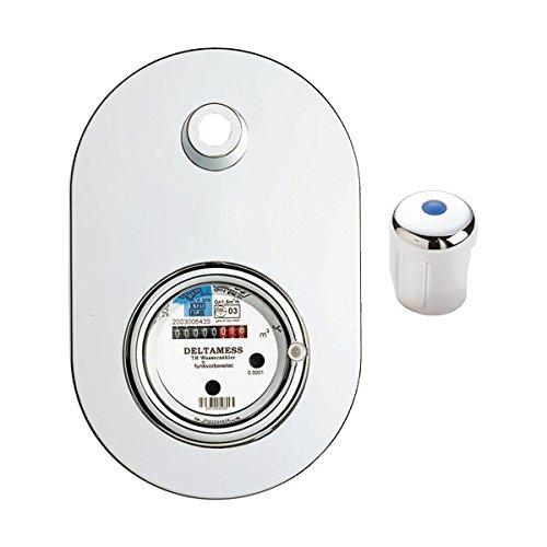 Deltamess 10358 Unterputz Zähler Wasserzähler Wasseruhr Chromgarnitur TKS UP Funk-V Miniblock Qn 1,5 - warm Warmwasser