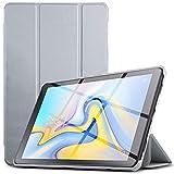 IVSO Hülle für Samsung Galaxy Tab A 10.5 SM-T590/T595, Slim Schutzhülle mit Auto Aufwachen/Schlaf Funktion Ideal Geeignet für Samsung Galaxy Tab A SM-T590/SM-T595 10.5 Zoll 2018, HJ-Grau