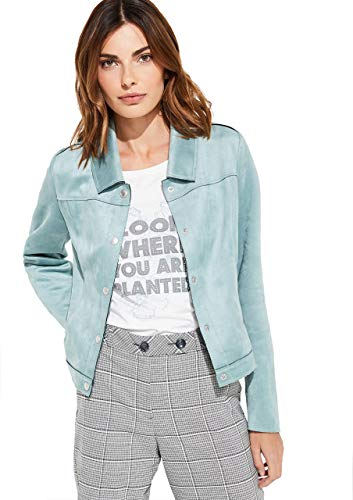 comma Damen Veloursjacke im Jeansjacken-Style Smokey Blue 38
