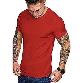 COOFANDY Lot de 3 T-Shirts d'entraînement de Gymnastique pour Hommes Couche de Base à Manches Courtes T-Shirts de Remise en Forme d'entraînement de Musculation Musculaire