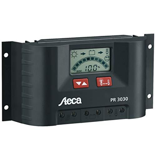 Steca PR3030 3030 Solarladeregler mit LCD Display und Lastausgang für 12 V Verbraucher bis 30 A