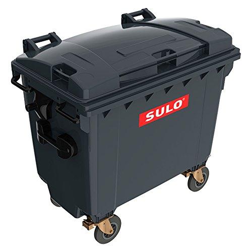 Sulo Müllgroßcontainer MGB 660 Liter mit Flachdeckel (FD) Müllcontainer Mülltonne Abfallcontainer Abfalltonne (Grau)