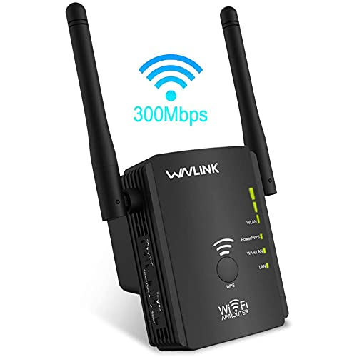 WiFi Repeater Wireless Signal Booster, Latest 2.4GHz 300Mbps WiFi Range...