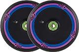 UrbanArtt Disk 110mm Ruedas Scooter 2 Unidades (110mm - Negro/Rosa)