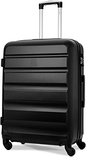 3 sets de maleta de cuatro ruedas rígidas con encendedor con bloqueo TSA integrado,79cm