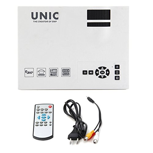 Chunyang Unic UC40 + Mini Pico tragbare 3D-Projektor HDMI Heimkino Beamer Multimedia Proyector Full HD 1080P Video