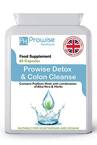 Detox Colon Cleanse 600mg 60 Kapseln - UK Hergestellt | GMP-Standards von Prowise Healthcare