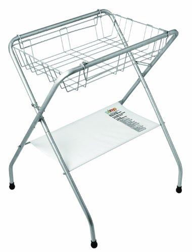 Primo Folding Bath Stand, Silver Gray