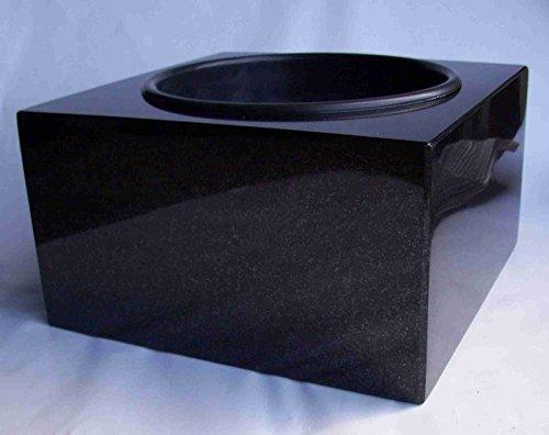 designgrab Karree SS1 Coupe funéraire en granit suédois Noir 30 x 30 cm
