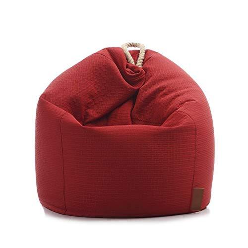 Yingm Comodo Divano a Sacco Sacchetto di Fagioli Bazaar Pannelli Classici Bag Classica Sedia Sedia Resistente all'Acqua Beanbags Regalo (Colore : Rosso, Size : One Size)
