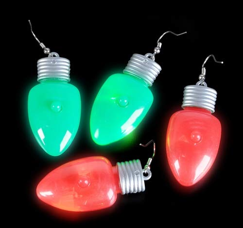 Read About DollarItemDirect 2 inches Flashing Bulb Shape Earrings, Case of 288