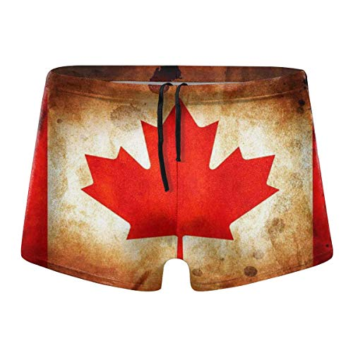 YYRR Retro Canadian Flag Hombres Traje de baño Bikini Swim Brief Board Shorts Surf Boxer Trunks Trajes de baño