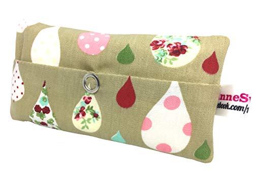 Zakdoeken tas regendruppels roze design adventskalender vulling kaboutergeschenk souvenir give away collega's kerst afscheid cadeau