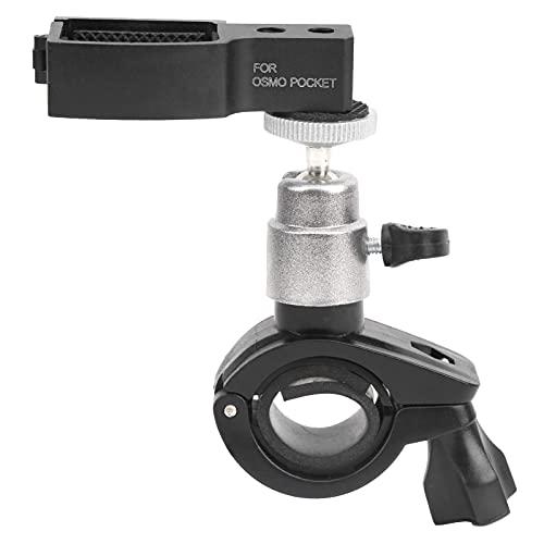 DAUERHAFT Staffa per Bicicletta per Action Cam, Supporto per Manico per Bici in Lega di Alluminio Girevole A 360 Gradi, con Adattatore per Fotocamera Tascabile, Adatto per OSMO Pocket 2 Sport Camera