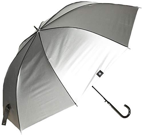 [ハウ] H・A・U 晴雨兼用 長傘 紳士 傘 雨晴兼用 猛暑対策 シルバーコーティング 70㎝ メンズ シルバー 日本 (日本サイズL相当)