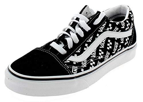 Vans Herren Old Skool Low Top Sneaker, (Old Skool Schwarz True White), 36.5 EU