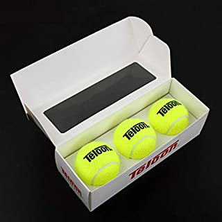 Teloon Tennis Ball with String Sport Tennis Stroke Tennis Ball with Elastic Rope-Back Training Gear Tennis Practice Tool for Single Tennis Player Outdoor Indoor Sport