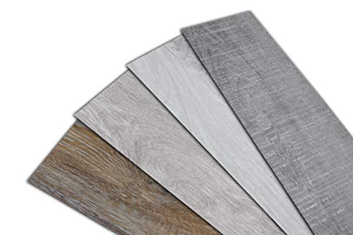 HOME DELUXE Vinylboden – 1m² – selbstklebend – verschiedene Farben – V8 Eiche Grau