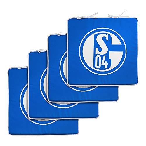Unbekannt Seat Cushion Schalke 04 Compatible + Sticker Gelsenkirchen Forever, Pillow, Almohada, Ooreiller, S04 Cushion