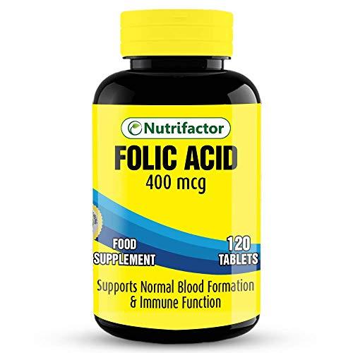 Nutrifactor: Folic Acid 400mcg, 120 Tablets
